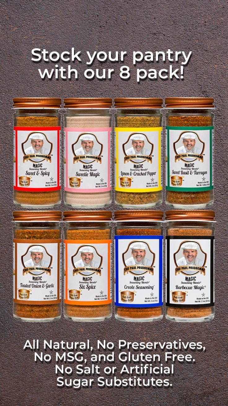 Salt Free Sugar Free 8 Pack Salt Free Recipes Spice Recipes Homemade Seasonings