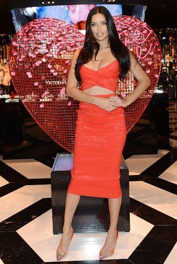 Adriana Lima: lingerie for Saint Valentine's