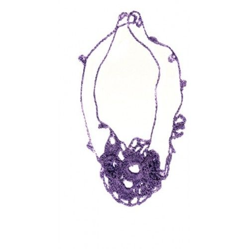 """Io"", necklace, handmade jewelery knitted crochet"