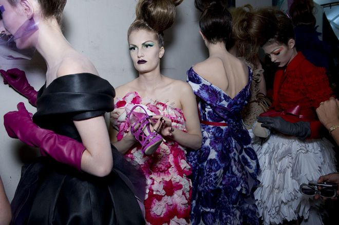 dior couture backstage