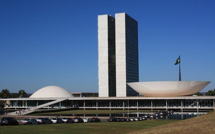 National Congress, Brasilia, Brazil by Oscar Niemeyer