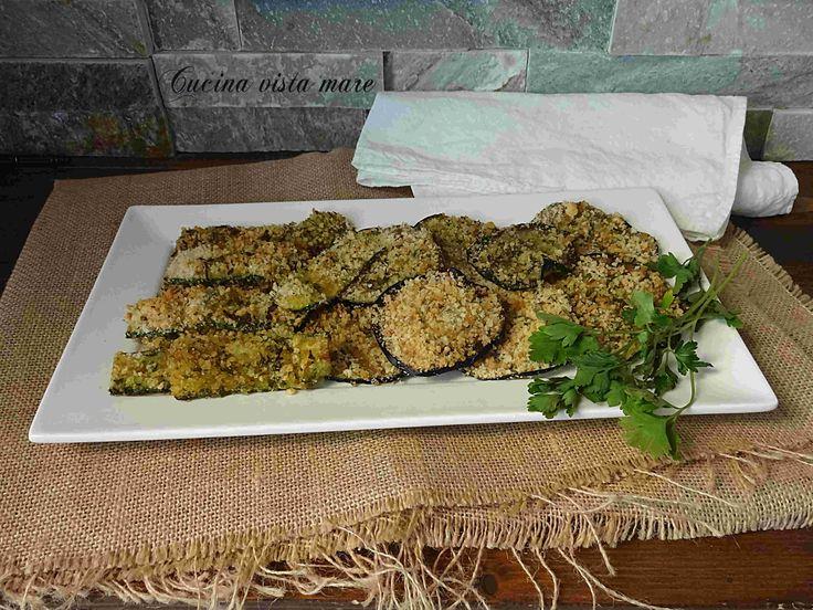 Verdure impanate al forno Cucina vista mare