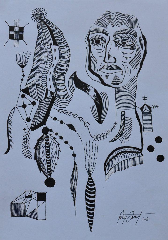 No title / technic : ink on paper / 21x29.7 cm / 2011   Artist: Fülöp József
