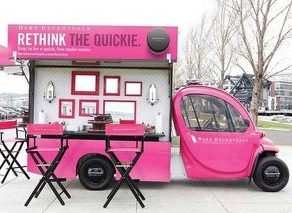 Have a tight conference schedule? Bare Escentuals makeover truck onsite to help you 'fresh up' before your next meeting.