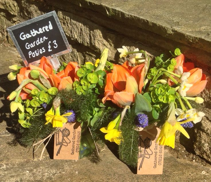 April Jam Jar Posies, by Gathered Garden https://www.facebook.com/gatheredgarden