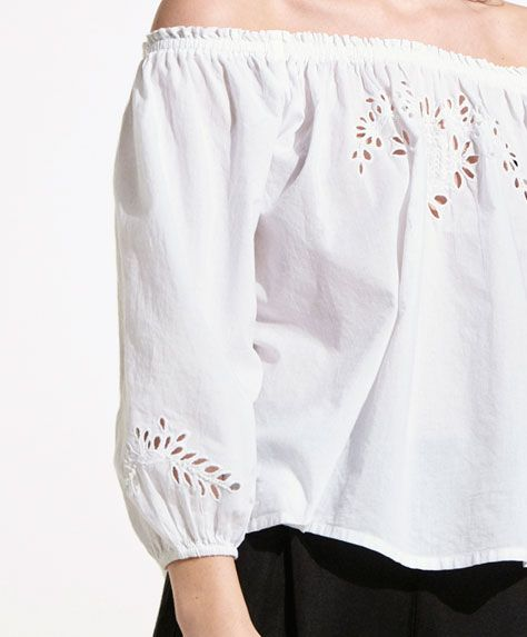 2017 trends in beach tops for women at Oysho. Resort shirts, crochet, mesh, cover up & kaftan tops or beach tunics & t-shirts. Styles for all women!