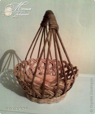 Плетеные вазочки-конфетницы