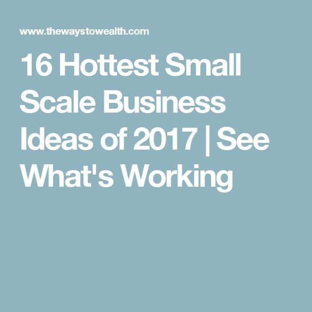 16 Hottest Small Scale Business Ideas of 2017 | See What's Working