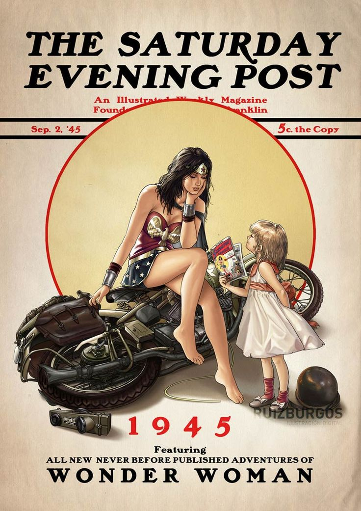 Saturday Evening Post – Les super-héros vintage version Norman Rockwell