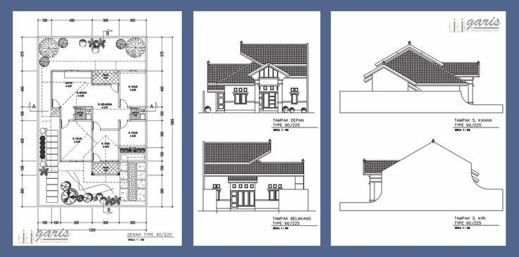 Sketsa Rumah Sederhana Satu Lantai