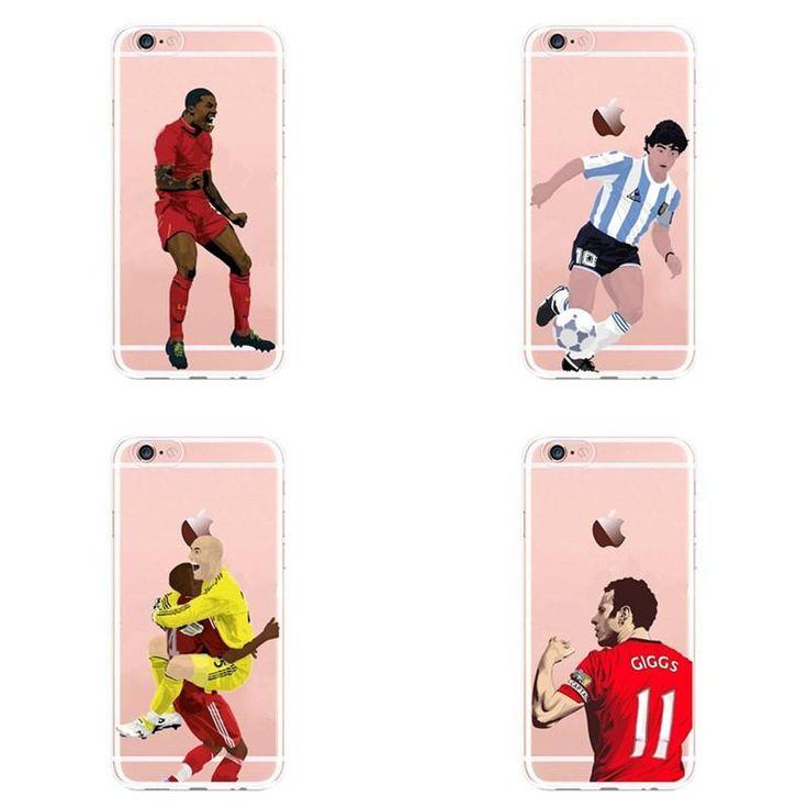 Buy Wallmart.win Famous Cristiano Ronaldo Football Soccer Transparent Bac For Iphone 6s 5 6 7 8 7 Plus X Tputranspar: Vendor: DW Type:…