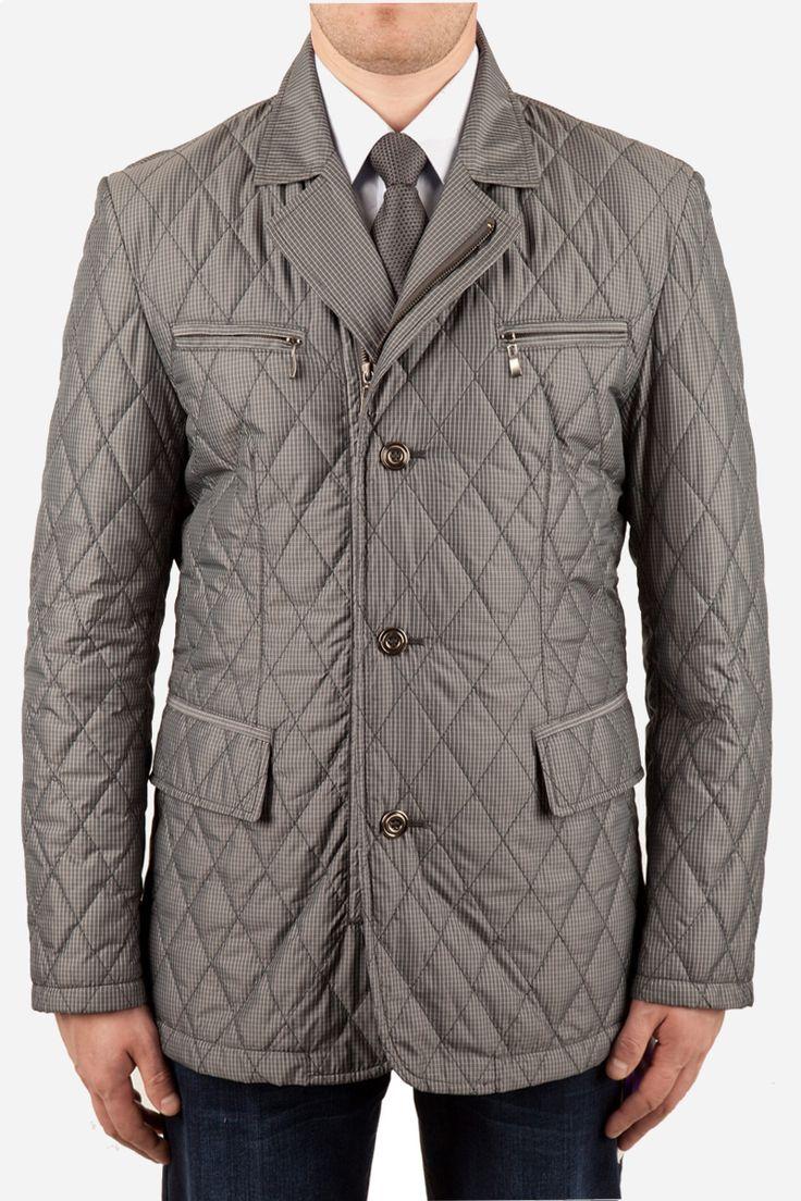 Мужская демисезонная куртка С GREY серого цвета