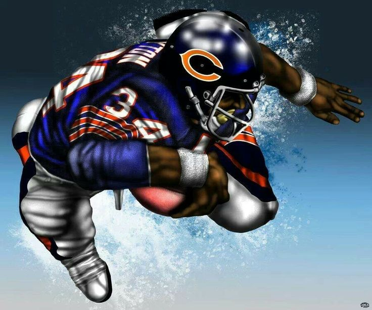 149 best images about football art on pinterest oakland raiders miami dolphins and football - Walter payton madden 15 ...