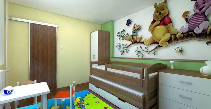Návrh a vizualizácia nábytku a usporiadanie detskej izby. Sčasti podľa zásad Feng-shui