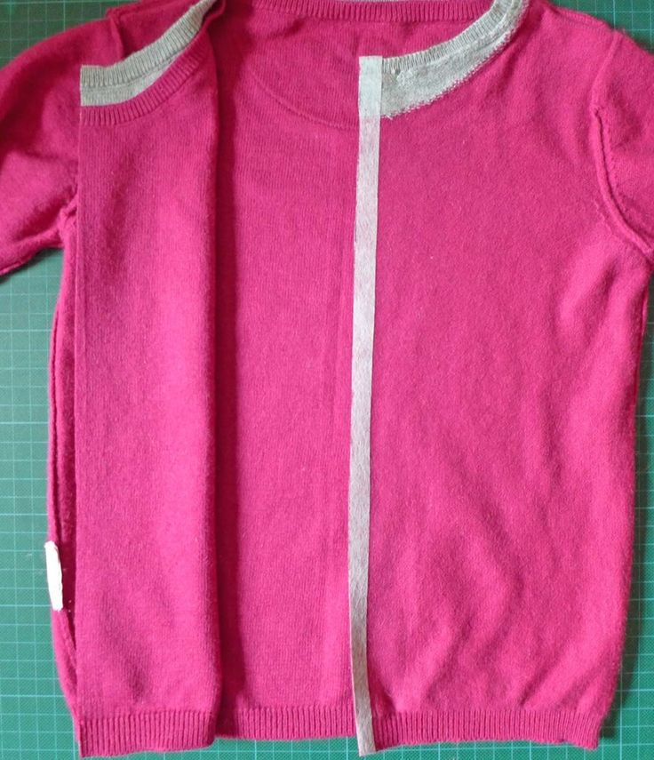 Pullover zum Cardigan – Upcycling