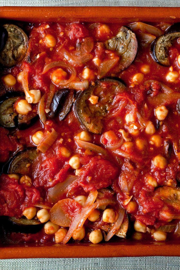 Eggplant, Tomato and Chickpea Casserole