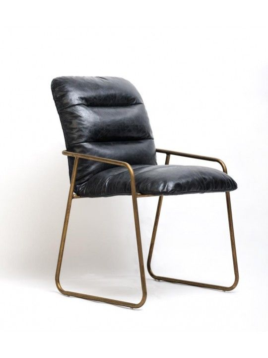 Dewey Large Chair in Black and Charcoal by United Strangers