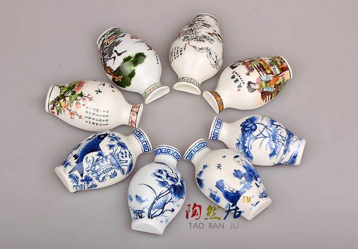 Fridge Magnet Wholesale10pcs Chinese Classical Blue&White Porcelain Little…