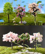 8 stks kunstmatige bomen poppenhuis gereedschap zand model miniaturen fairy tuin terrarium fles mini planten thuis tafel decor bonsai(China (Mainland))