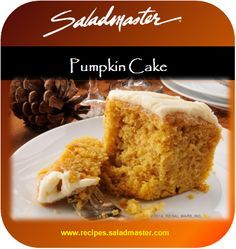 Healthy Pumpkin Cake - no oil & no butter #OvenFree| #Saladmaster #Recipes | For more, check out www.recipes.saladmaster.com #316ti #Titanium #StainlessSteel #Cookware #LifetimeWarranty
