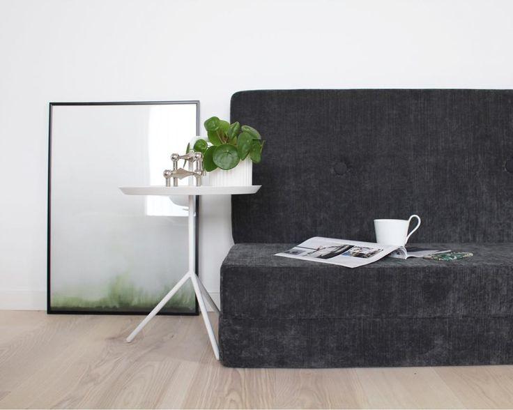 KK 3 Fold in velvet anthracite from by KlipKlap. Multipurpose furniture in Danish design for both kids and adults. Photo credit: @kdohnjensen