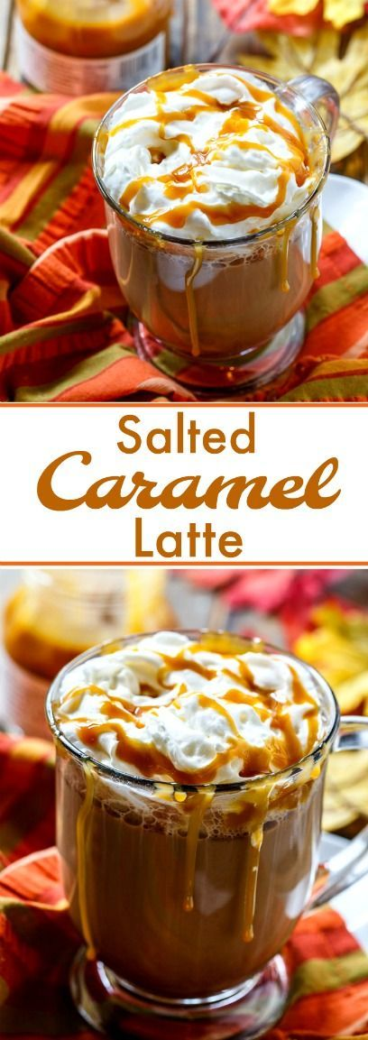 Salted Caramel Latte #caramel #lattes