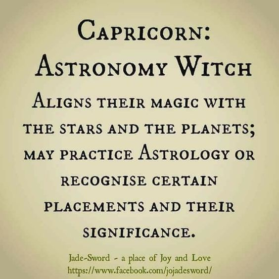 Capricorn - Astronomy Witch | (FF TO) | Wiccan crafts, Witch