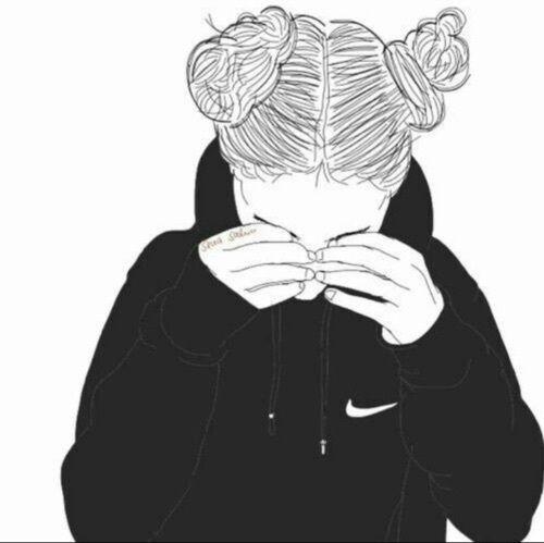 dessin, voler, fille, Nike, cosmos, swag
