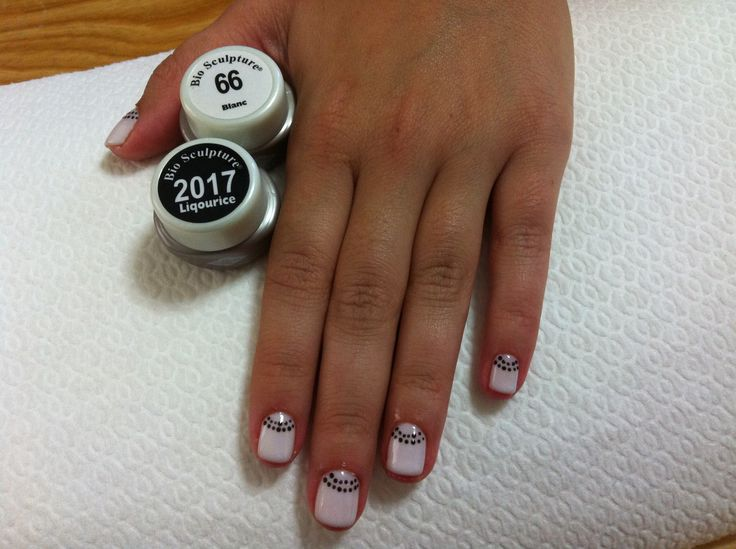 My work w bio sculpture gel for natural nails