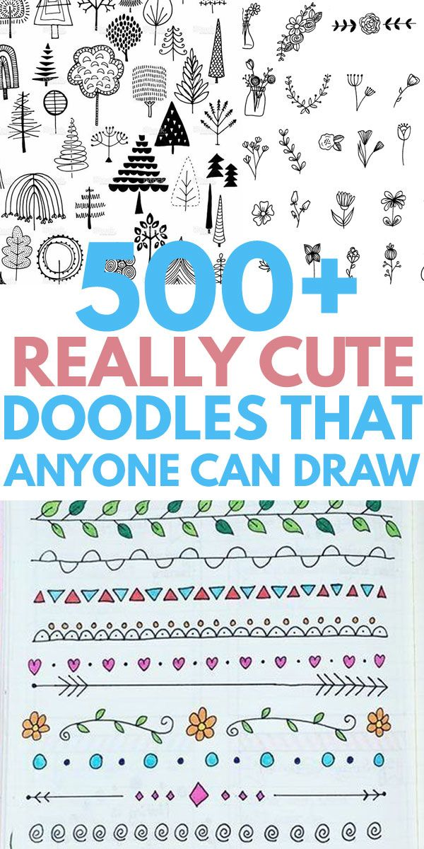 500 Doodles To Dress Up Your Bujo Bullet Journal Doodles