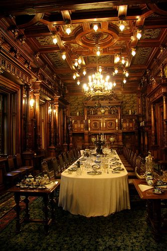 Dining Ambiance at Peles Castle ~ Carpathian Mountains, near Sinaia, Romania