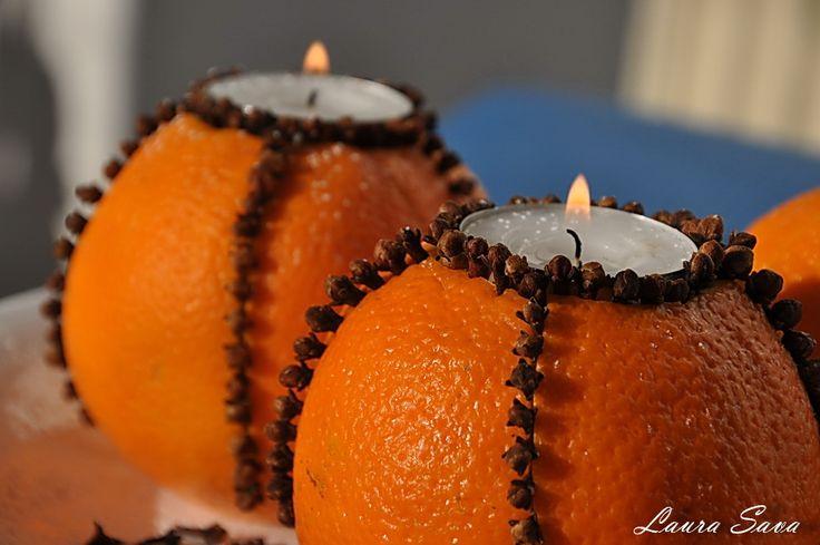 Lumanari din portocale