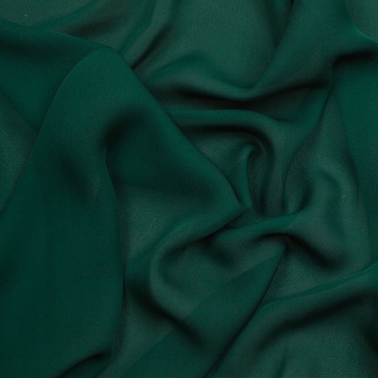 haute hippie forest green silk double georgette fabric by the yard mood fabrics