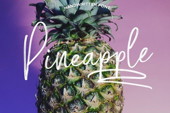 Pineapple Script by Mellow Design Lab on @creativemarket