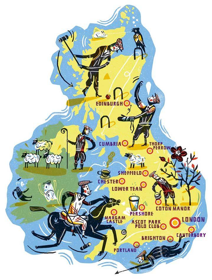 Jakob Hinrichs - Map of the UK