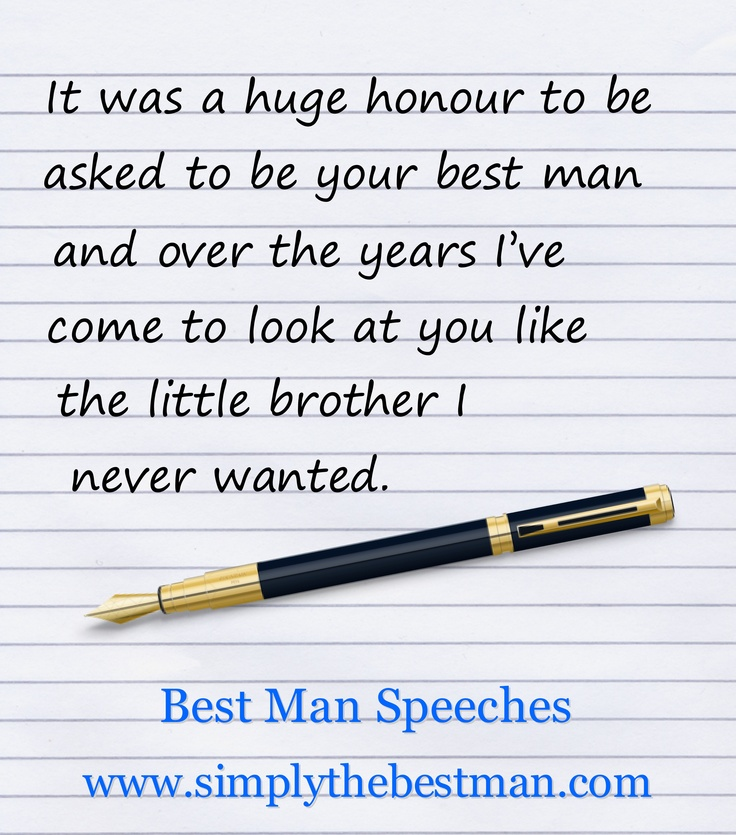 25 Best Ideas About Best Man Speech On Pinterest