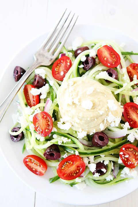 Greek Cucumber Noodles from @Maria (Two Peas and Their Pod)