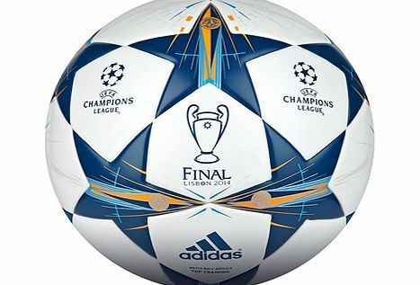 Adidas UEFA Champions League 2013/14 Final Top Adidas UEFA Champions League 2013/14 Final Top Training Football WhiteJust like the ball they use in Europes big football showdown, this durableAdidas Champions League Final Top Ball features a seam http://www.comparestoreprices.co.uk/football-equipment/adidas-uefa-champions-league-2013-14-final-top.asp