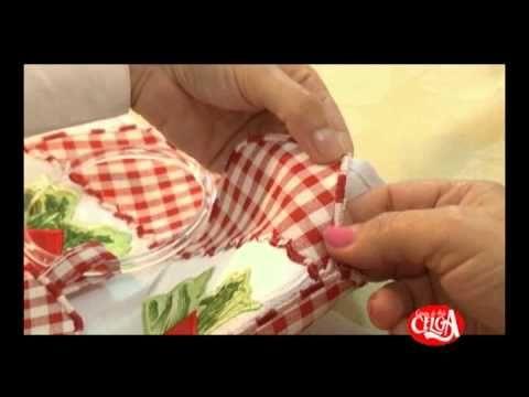 Aprenda a fazer um pano de prato bordado à maquina.\\bem diferente do que somos acostumados a fazer\\bem legal  \\