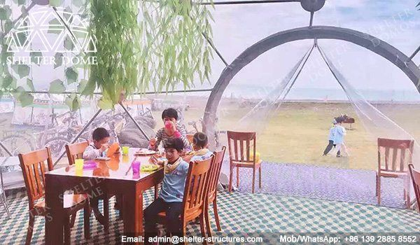 10m Eco living dome tents for sale - Geo dome tents for sale - Dome restaurant - Prefab dome homes for sale - Eco dome homs for sale - Shelter Dome (1)