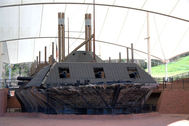 The U.S.S. Cairo, Civil War Ironclad, Sunk on Dec 12, 1862, in 12 min. on the Yazoo River with 168 men on board (no casualties). Was brought up off the river bottom 102 yrs later in 1964 Vicksburg MS (National Park) Aug 1994