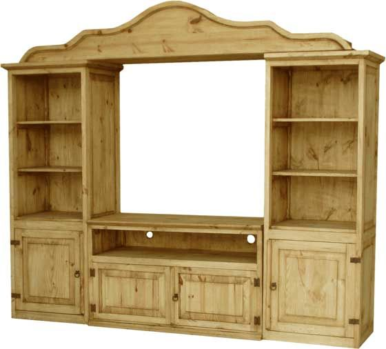 RUSTIC IDEAS FOR STAIR WALL...Entertainment Center Rustic Mexican Furniture