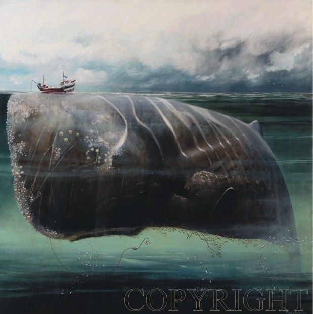 Tracy Savage The Whale Signed Limited Edition Print   Contemporary Art