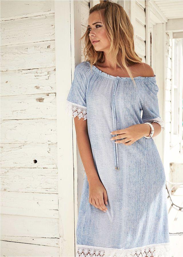 6b95322872 Sukienka shirtowa z materiału w optyce dżinsu • 109.99 zł • bonprix ...