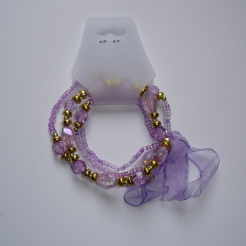 Bracciale Multifilo Lilla  Lilac Bracelet (multiple loops)