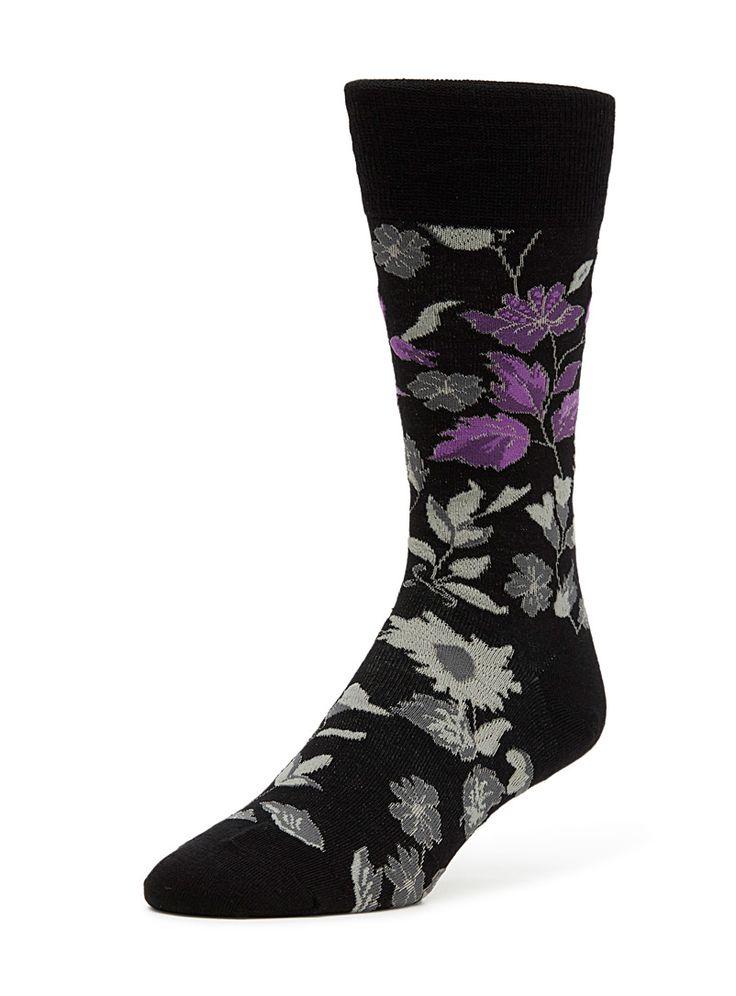 Accent flower socks   McGregor   Shop Men's Dress Socks Online   Simons