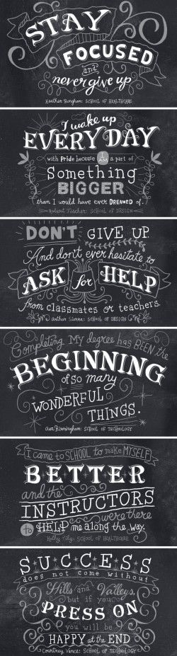 Nate Williams-Hand Lettered Quotes for Westwood College