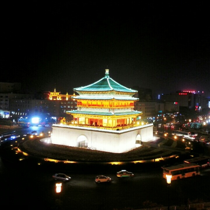 Bell tower in Xian, China