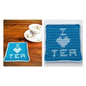I Love Tea Coaster Free Pattern – Crochet Creations