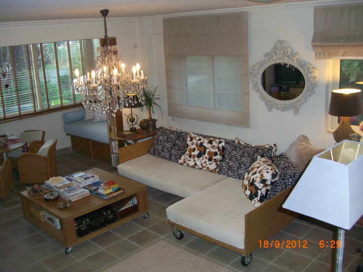 roman blinds and sofas
